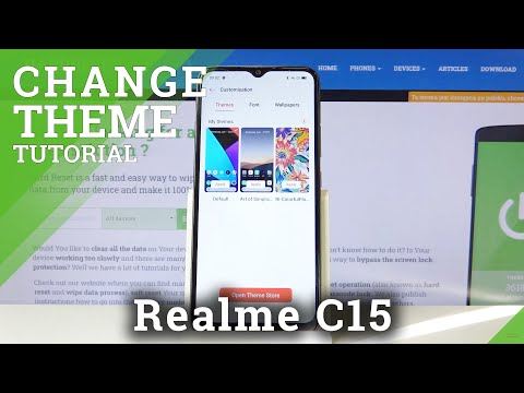 How to Change Device's Theme in REALME C15 – Refresh System Look