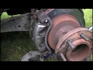 Front Brake Caliper Removal and Replacement Ford F350 DRW