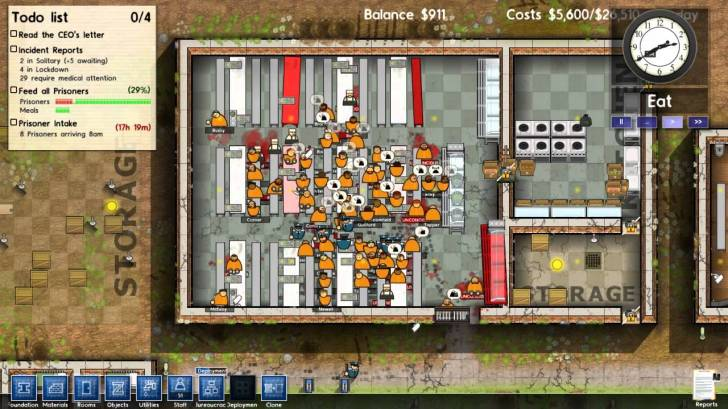 Prison Architect Kitchen Riot