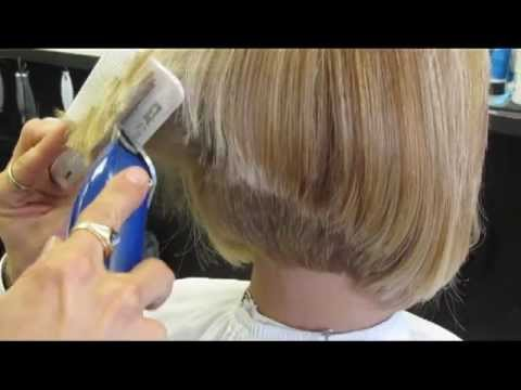 Andis Graduated Bob Beautiful Clipper Haircut Video YouTube
