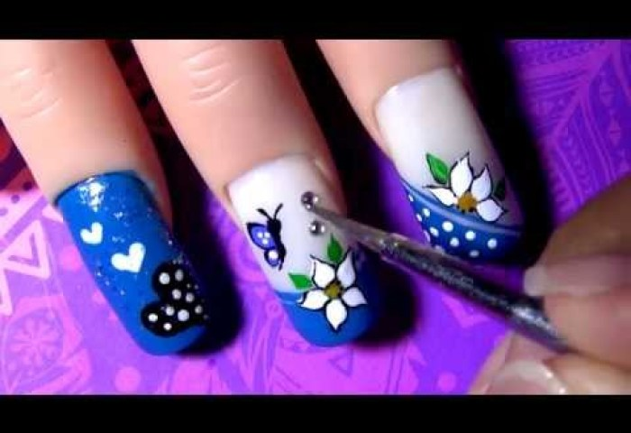 Decoración Mariposa Paso A Paso Para Las Uñas De Los Piesbutterfly