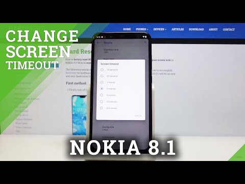 How to Set Screen Timeout in NOKIA 8.1 – Change Blackout Time