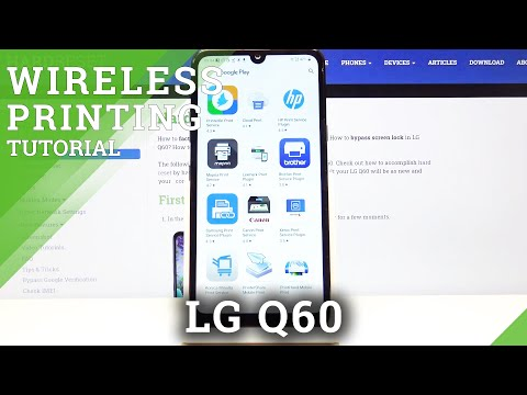 How to Connect Printer with LG Q60 – Connect Printer via Bluetooth / Wireless Printing