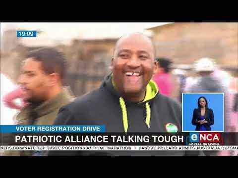 Voter Registration Drive   Patriotic Alliance talking tough