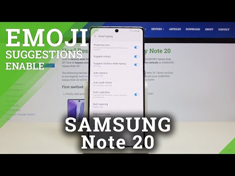 How to Activate Emoji Suggestions in SAMSUNG Galaxy Note 20 – Find Emoji Options