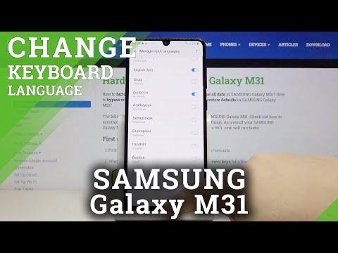 How to Change Keyboard Language in SAMSUNG Galaxy M31 – Find Keyboard Settings