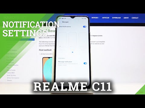 How to Manage Message Notifications in REALME C11 - Change Notifications