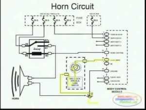 Horns & Wiring Diagram  YouTube