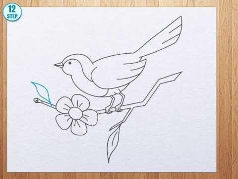 How To Draw Bird Youtube