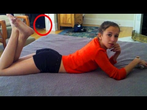 teen pulls pants down