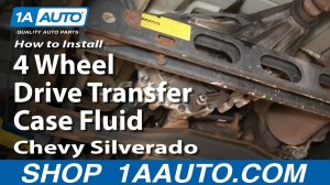 How To Install Replace 4 Wheel Drive Transfer Case Fluid Chevy Silverado GMC Sierra  YouTube