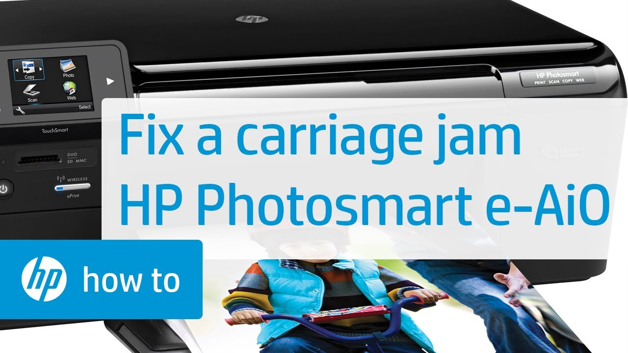 Fixing A Carriage Jam Hp Photosmart E All In One Printer