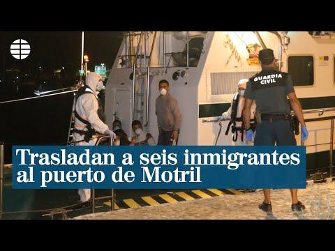 La Guardia Civil traslada a Motril a seis inmigrantes que viajaban en un pesquero