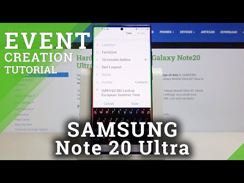 How to Add Event to Calendar in SAMSUNG Galaxy Note 20 Ultra – Add Calendar Notifications