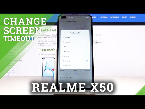 How to Change Sleep Time in REALME X50 5G - Screen Timeout