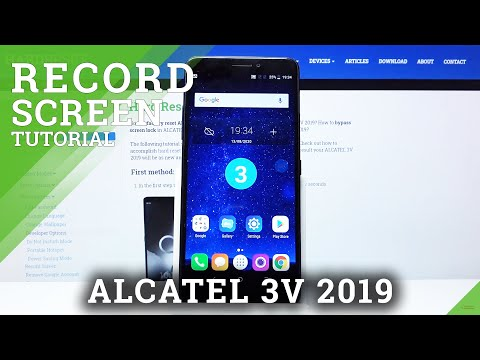How to Record Screen in ALCATEL 3V 2019 – Record Screen Actions