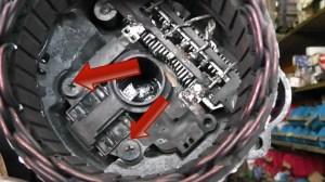 Mitsubishi alternator repair  brush change Fits Pajero