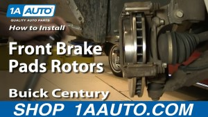 How To Install Replace Front Brake Pads Rotors Regal
