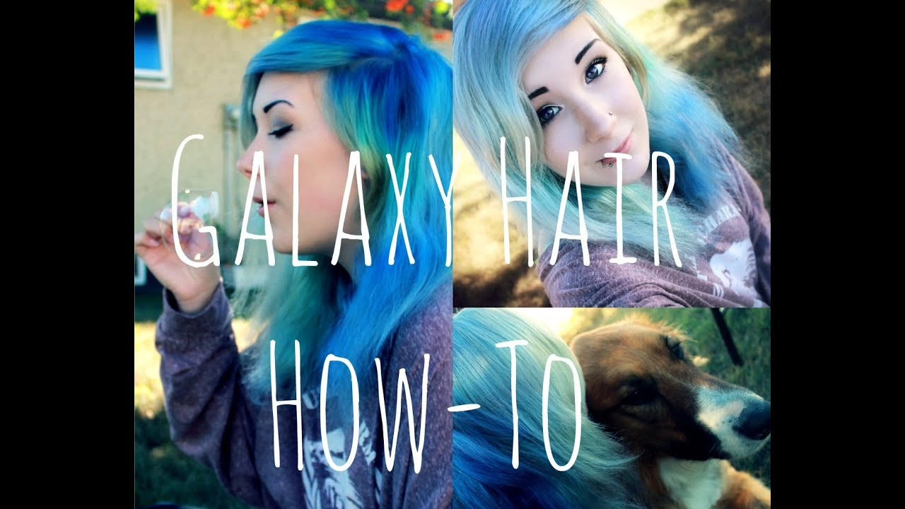 How To Do GALAXY Hair YouTube