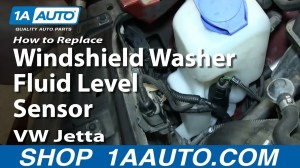 How To Replace Windshield Washer Fluid Level Sensor 200006 VW Jetta and Golf  YouTube
