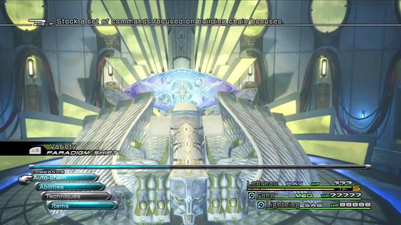Final Fantasy XIII Chapter 13 Overdrive Lebreau Vs