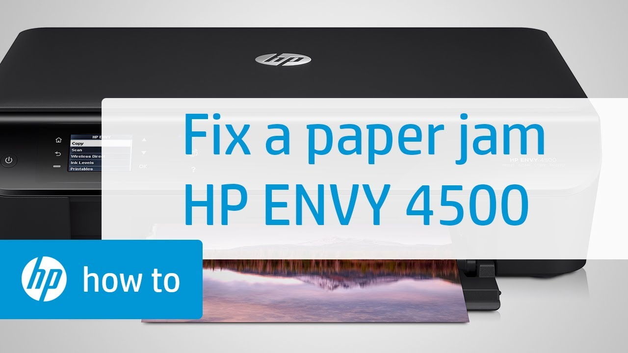 Fixing A Paper Jam Hp Envy 4500 E All In One Printer