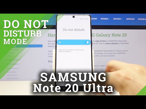 How to Customize DND Mode in SAMSUNG Galaxy Note 20 – Do Not Disturb Mode