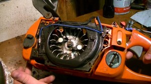 Removing the Gas tank from a Husqvarna 350  YouTube