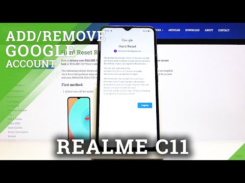 How to Add or Remove Google Account in REALME C11 - Create Google User