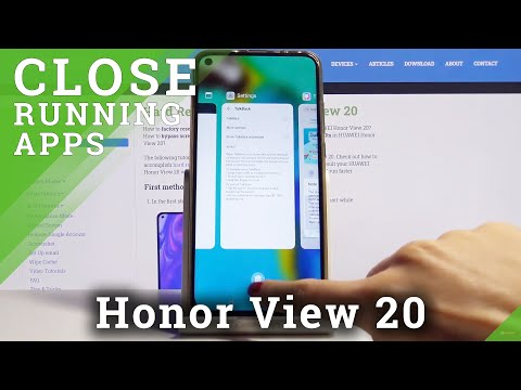 How to Turn Off Running Apps in HUAWEI Honor View 20 – Close Background Apps