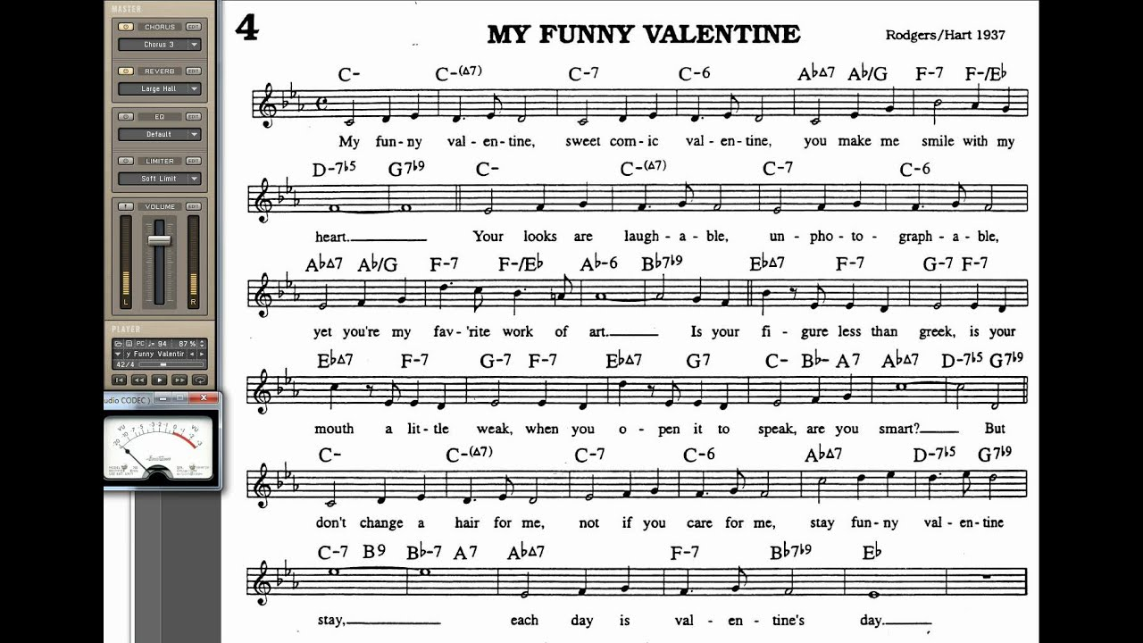My Funny Valentine Playalong For Cornet Trumpet Vocal Or
