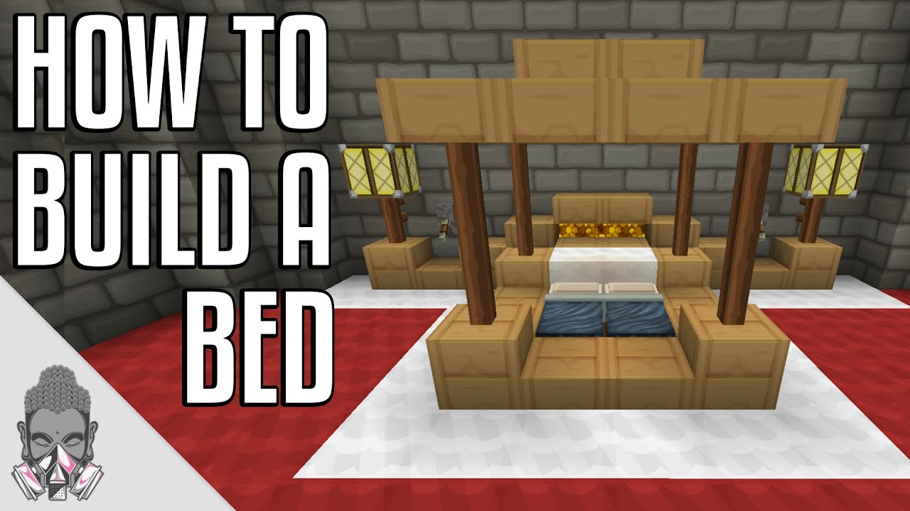 Minecraft How To Build A Four Poster Bed YouTube
