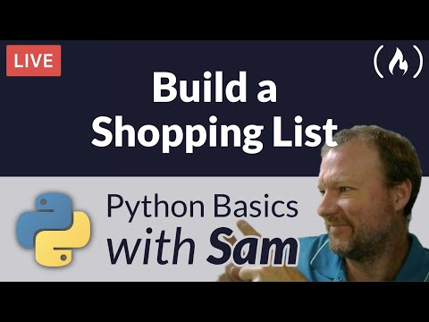 Build a Shopping List for the Command Line - Python Basics with Sam