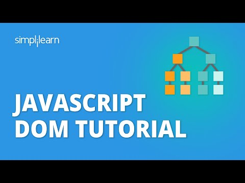 JavaScript DOM Tutorial | What Is DOM In JavaScript?| JavaScript Tutorial For Beginners |Simplilearn