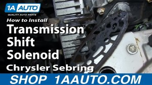 How To Install Replace Transmission Shift Solenoid 200106