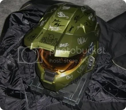 signed legendary helmet