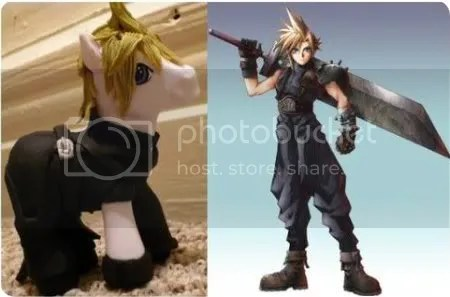 cloud strife my little pony