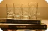 Rock Band Set Hand-Etched shot glasses