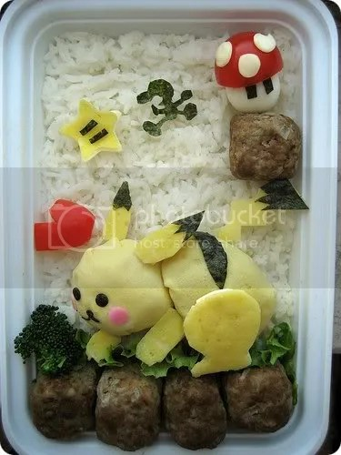 Pikachu and Mr. Game & Watch Bento