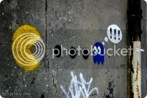 pac-man graffiti