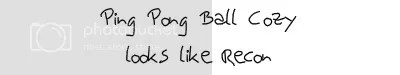 ping pong ball cozy