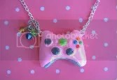 pink controller necklace