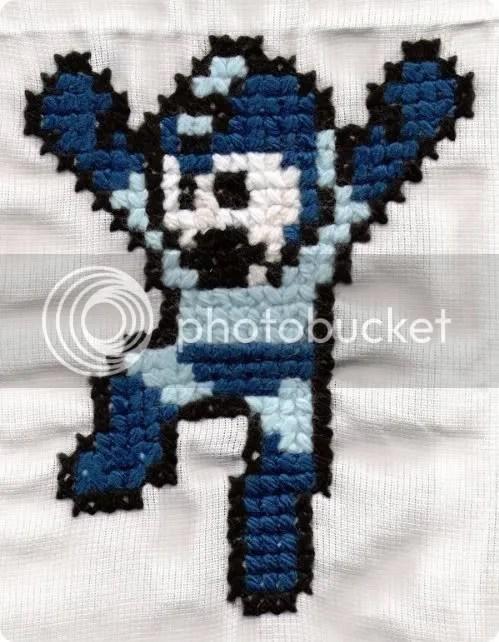 mega man cross-stitch