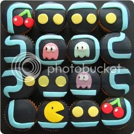 pac-man cupcakes