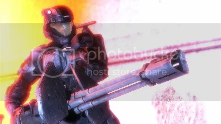 Halo 3 Screenshot Orbital Drop Shock Trooper ODST Turret