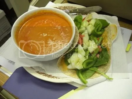 veggie wrap and soup