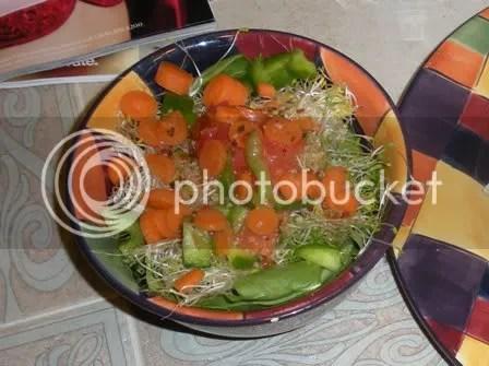 a big ol spinach salad