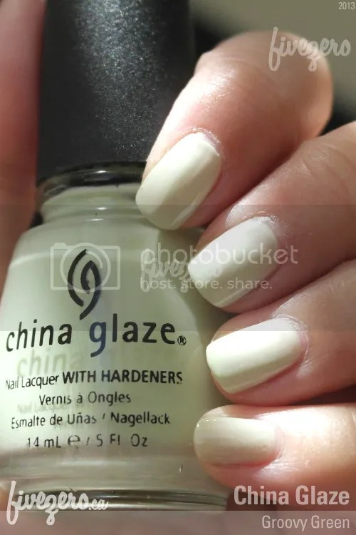 China Glaze Nail Lacquer in Groovy Green, swatch
