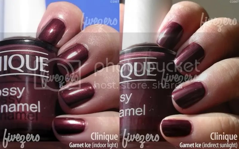 Clinique Nail Enamel in Garnet Ice, swatch