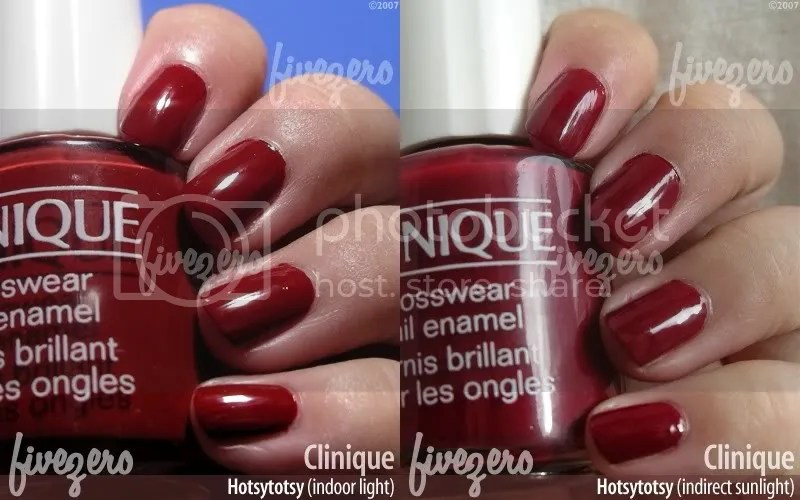 Clinique Nail Enamel in Hotsytotsy, swatch
